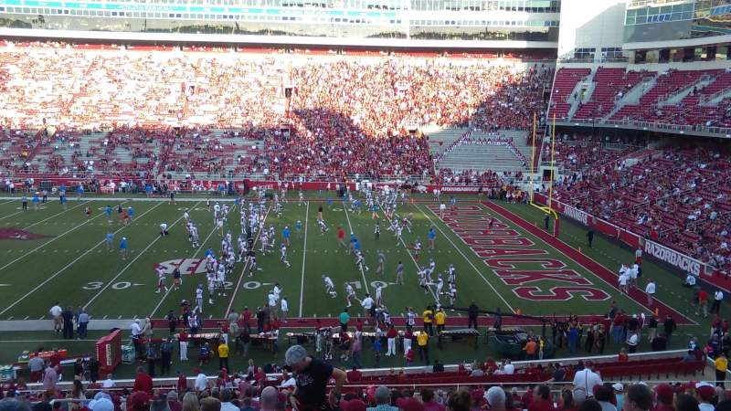 Seating view for Razorback Stadium Section 102 Row 35 Seat 41