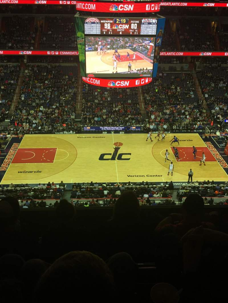 Seating view for Verizon Center Section 417 Row 4 Seat 6