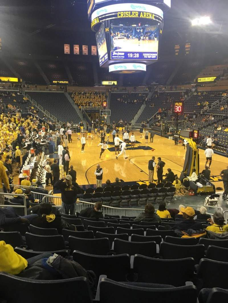 Seating view for Crisler Center Section 116 Row 13 Seat 8