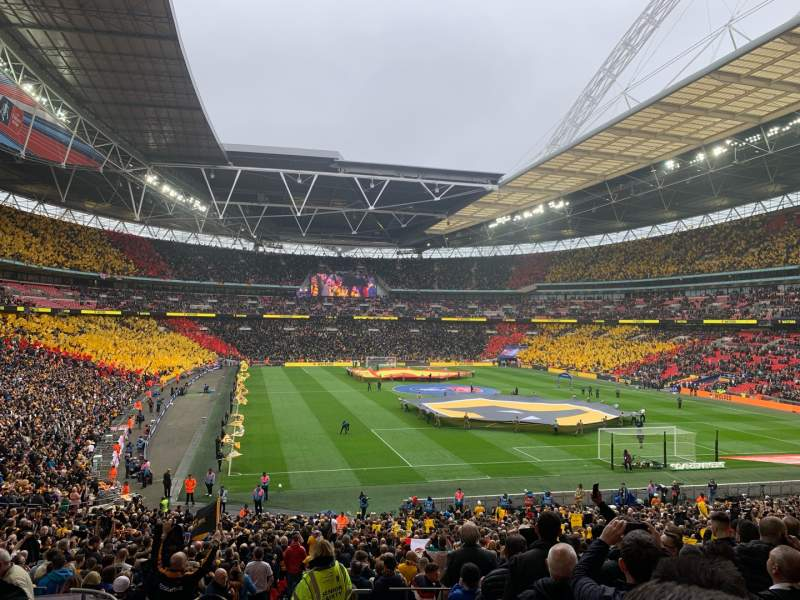 Seating view for Wembley Stadium Section 114 Row 40 Seat 68
