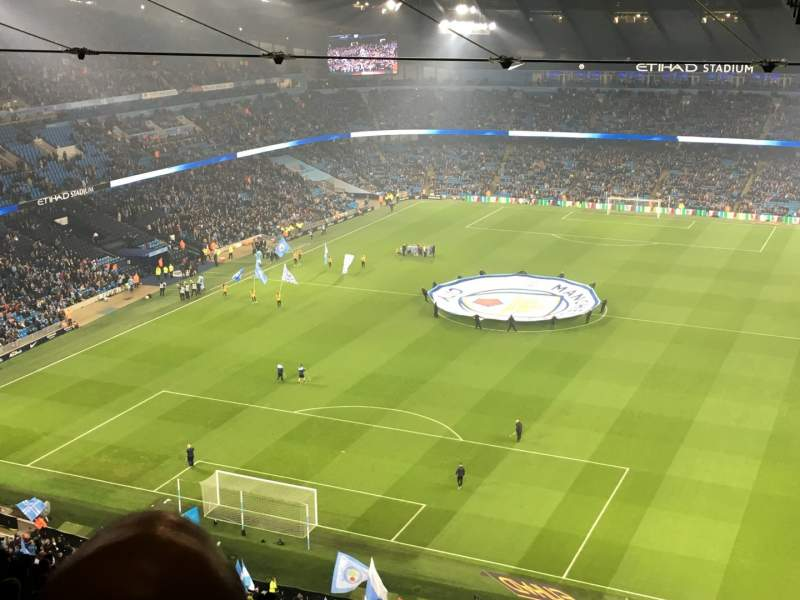 Seating view for Etihad Stadium (Manchester) Section 313 Row FF Seat 344