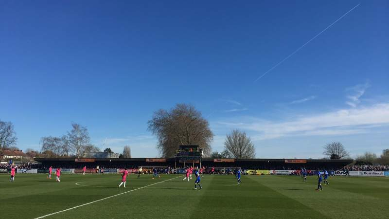 Seating view for Kingsmeadow Section J Row c Seat 3