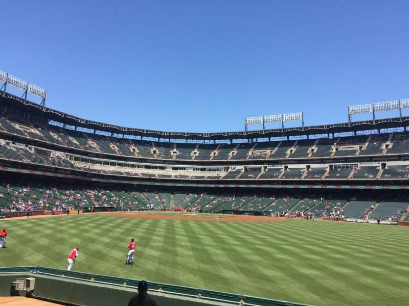 Seating view for Globe Life Park in Arlington Section 49 Row 6 Seat 6
