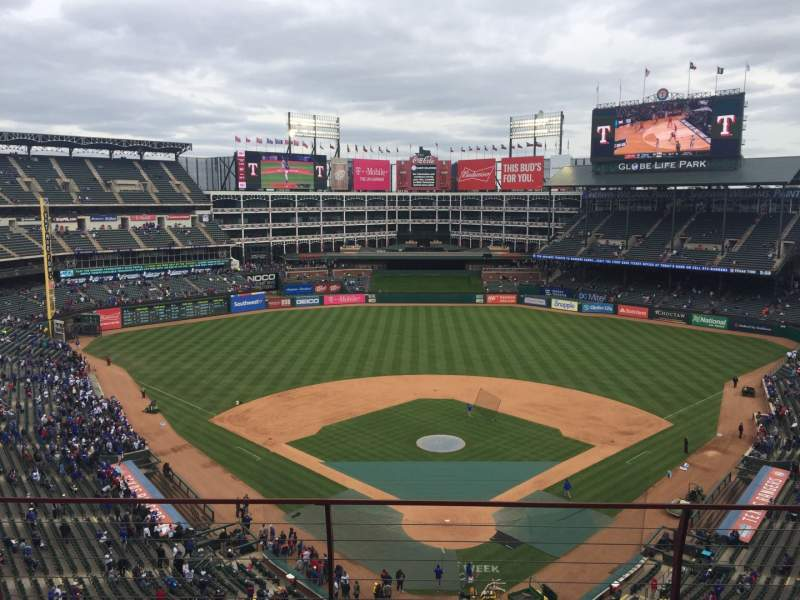 Seating view for Globe Life Park in Arlington Section 326 Row 4 Seat 4