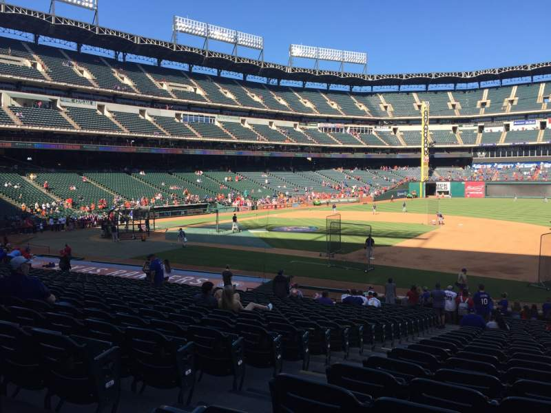 Seating view for Globe Life Park in Arlington Section 35 Row 24 Seat 3