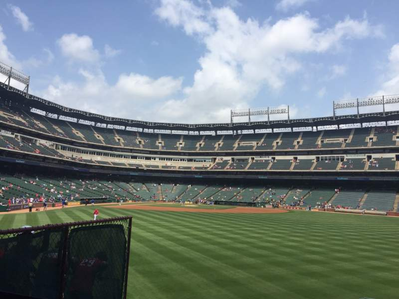 Seating view for Globe Life Park in Arlington Section 48 Row 6 Seat 6