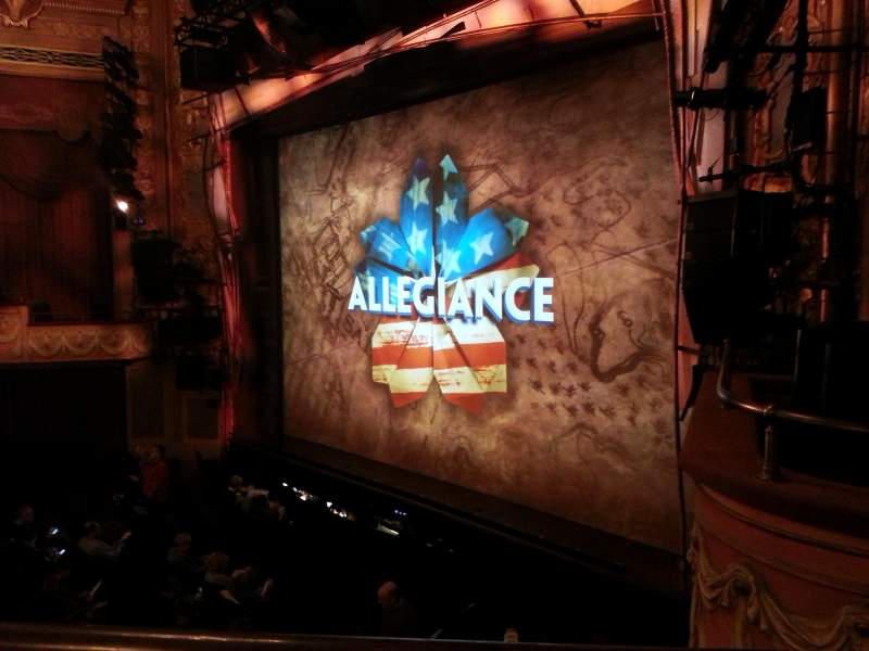 Longacre Theatre, section: MEZZO, row: A, seat: 19
