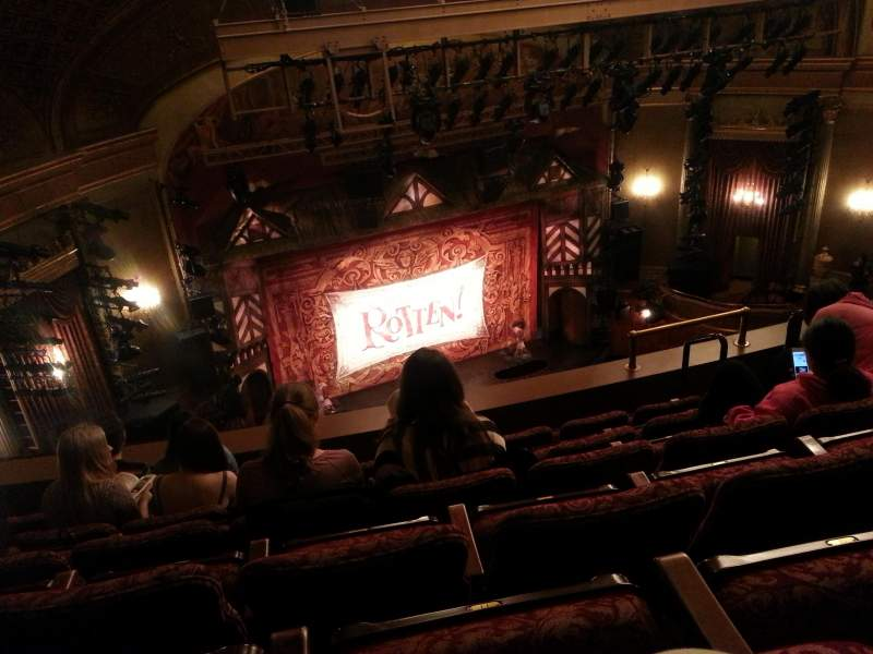 Seating view for St. James Theatre Section Balcony L Row F Seat 13