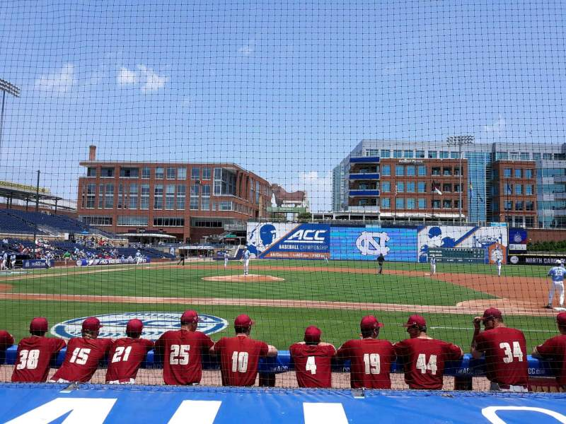Seating view for Durham Bulls Athletic Park Section 110 Row E Seat 108