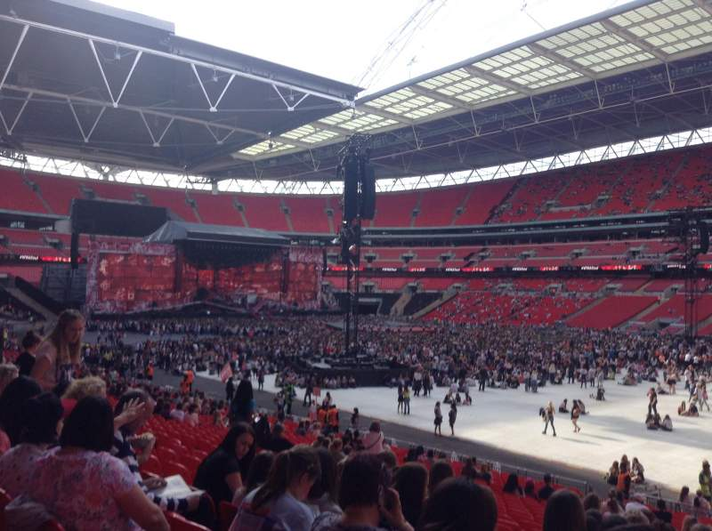 wembley stadium section 118 row 28 seat 201 one. Black Bedroom Furniture Sets. Home Design Ideas