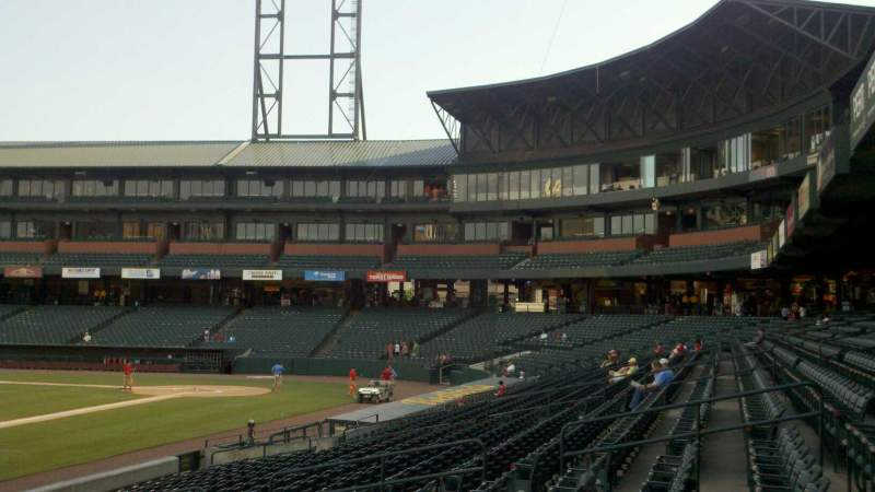 Seating view for Autozone Park Section 116 Row J Seat 13