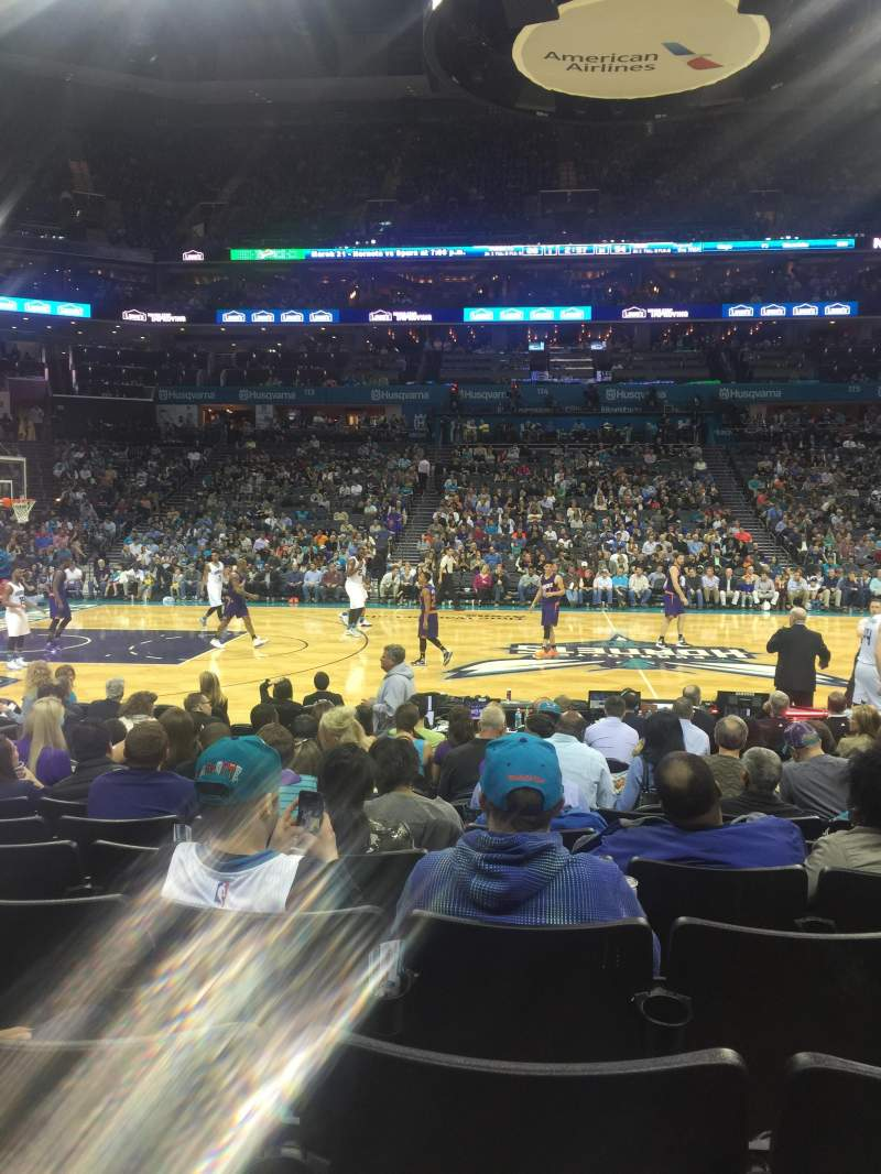 Seating view for Spectrum Center Section 105 Row I Seat 15