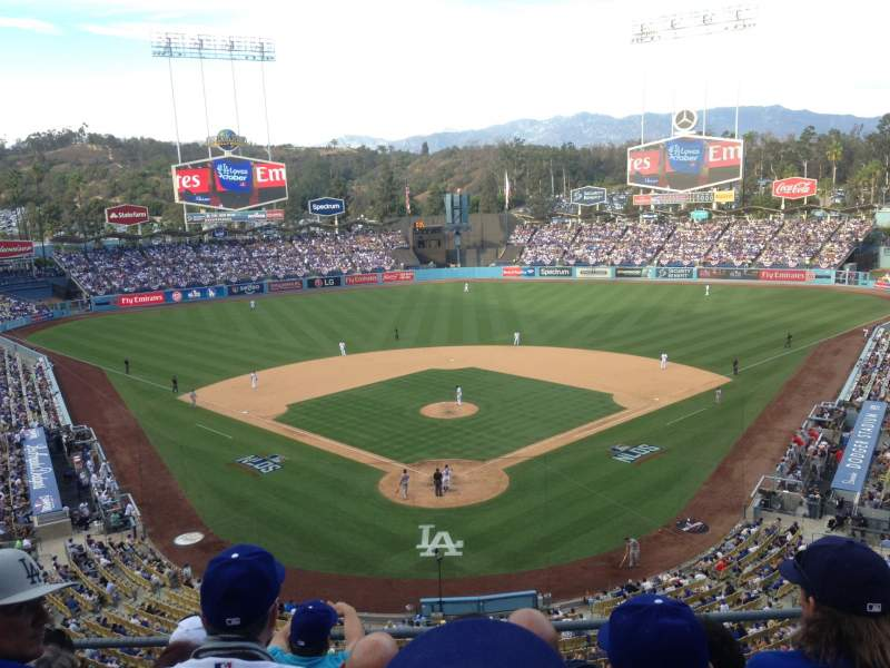Seating view for Dodger Stadium Section 44RS Row O Seat 5