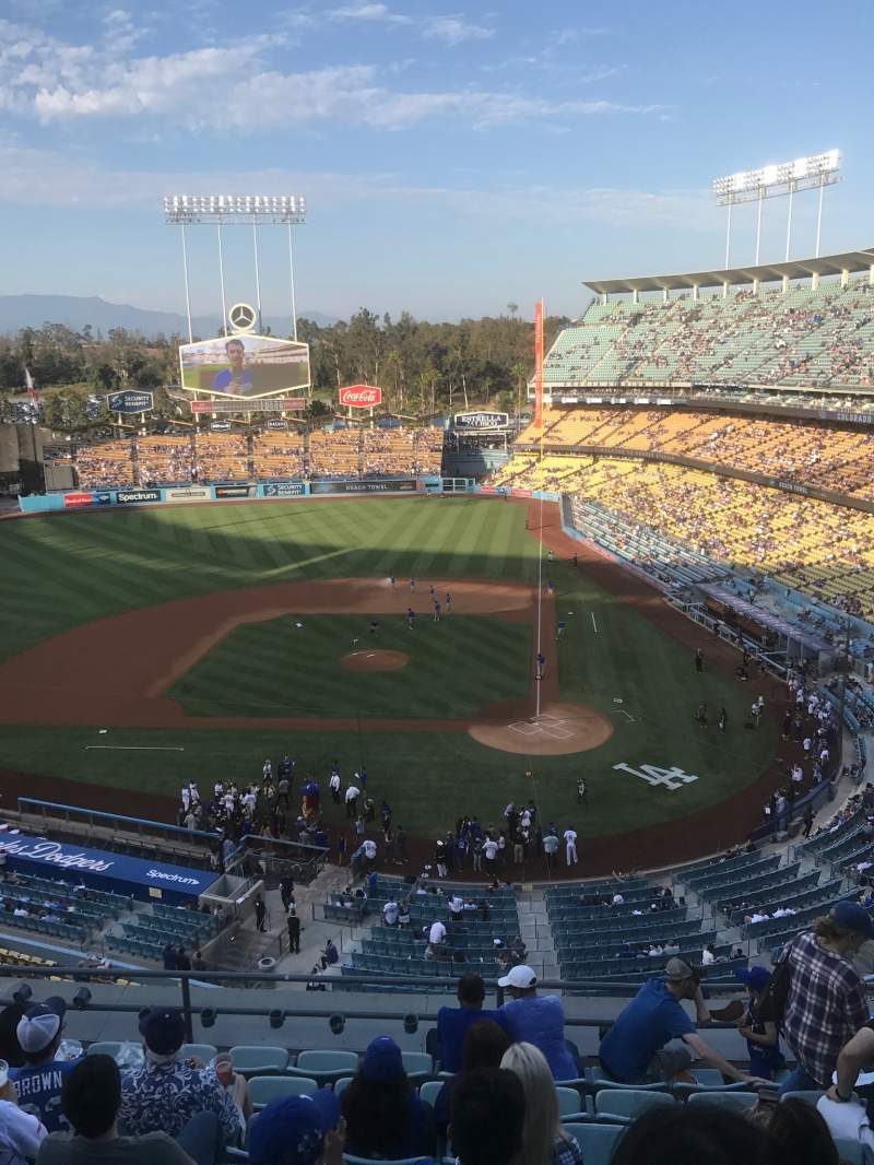 Seating view for Dodger Stadium Section 9RS Row L Seat 6