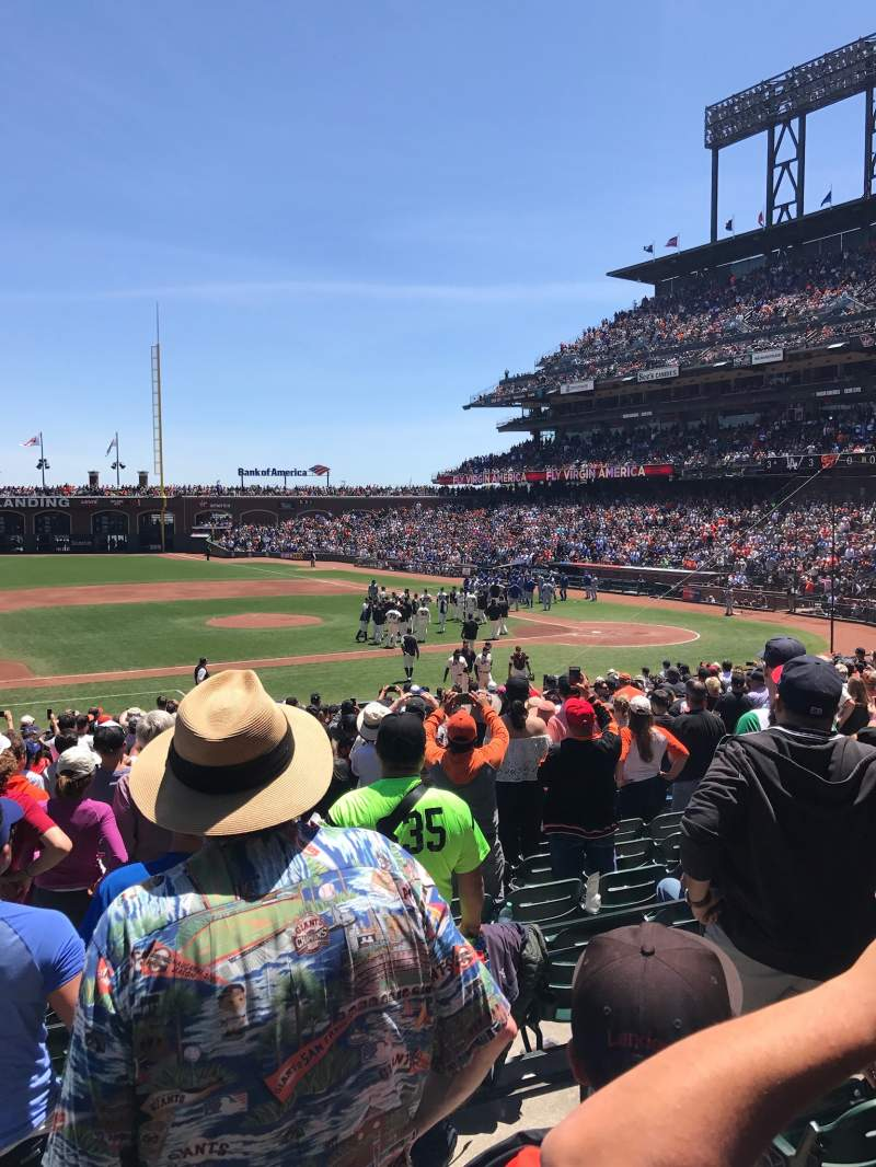 Seating view for Oracle Park Section 124 Row 24 Seat 7