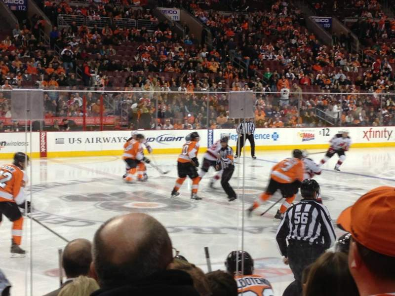 Seating view for Wells Fargo Center Section 124 Row 7 Seat 9