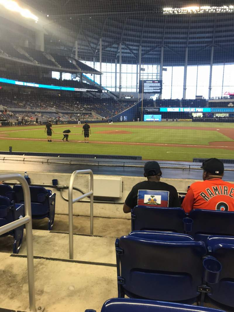 Seating view for Marlins Park Section 8 Row D Seat 18