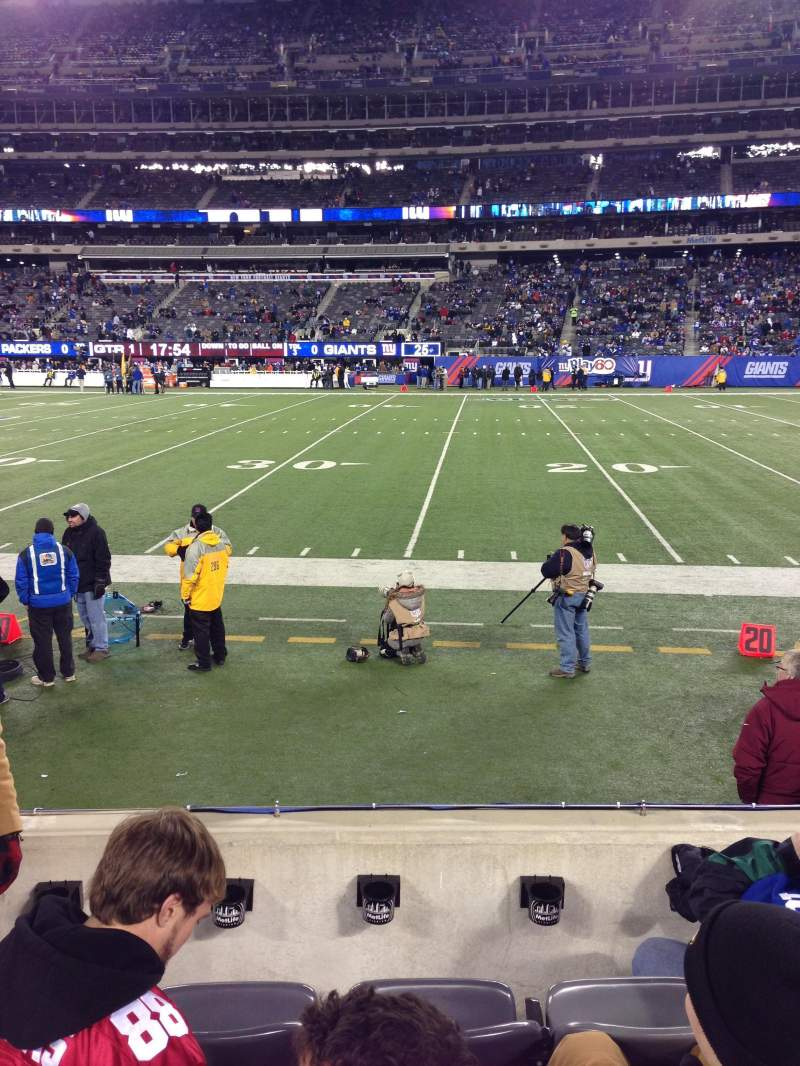 Seating view for METLIFE STADIUM Section 135 Row 4 Seat 27