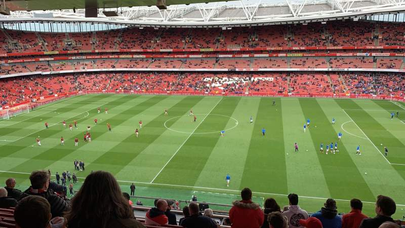 Seating view for Emirates Stadium Section 133 Row 12 Seat 1178