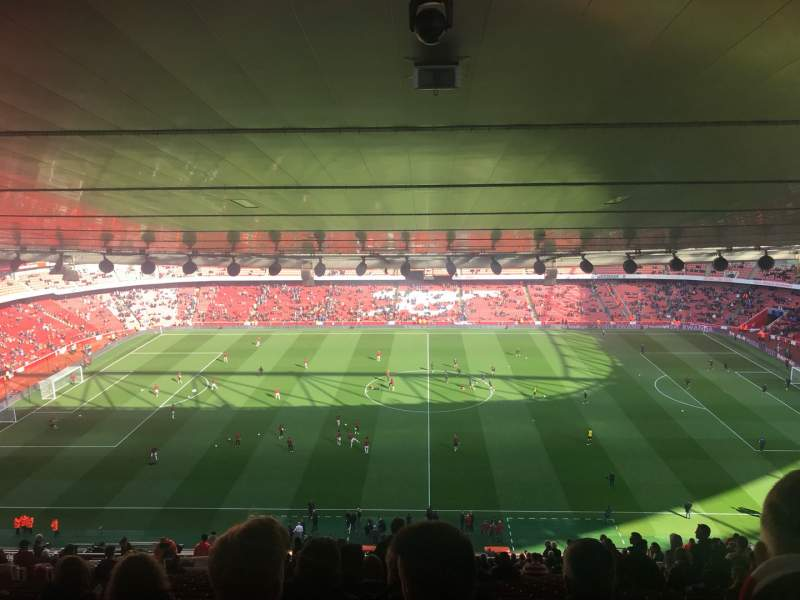 Seating view for Emirates Stadium Section 91 Row 31 Seat 1
