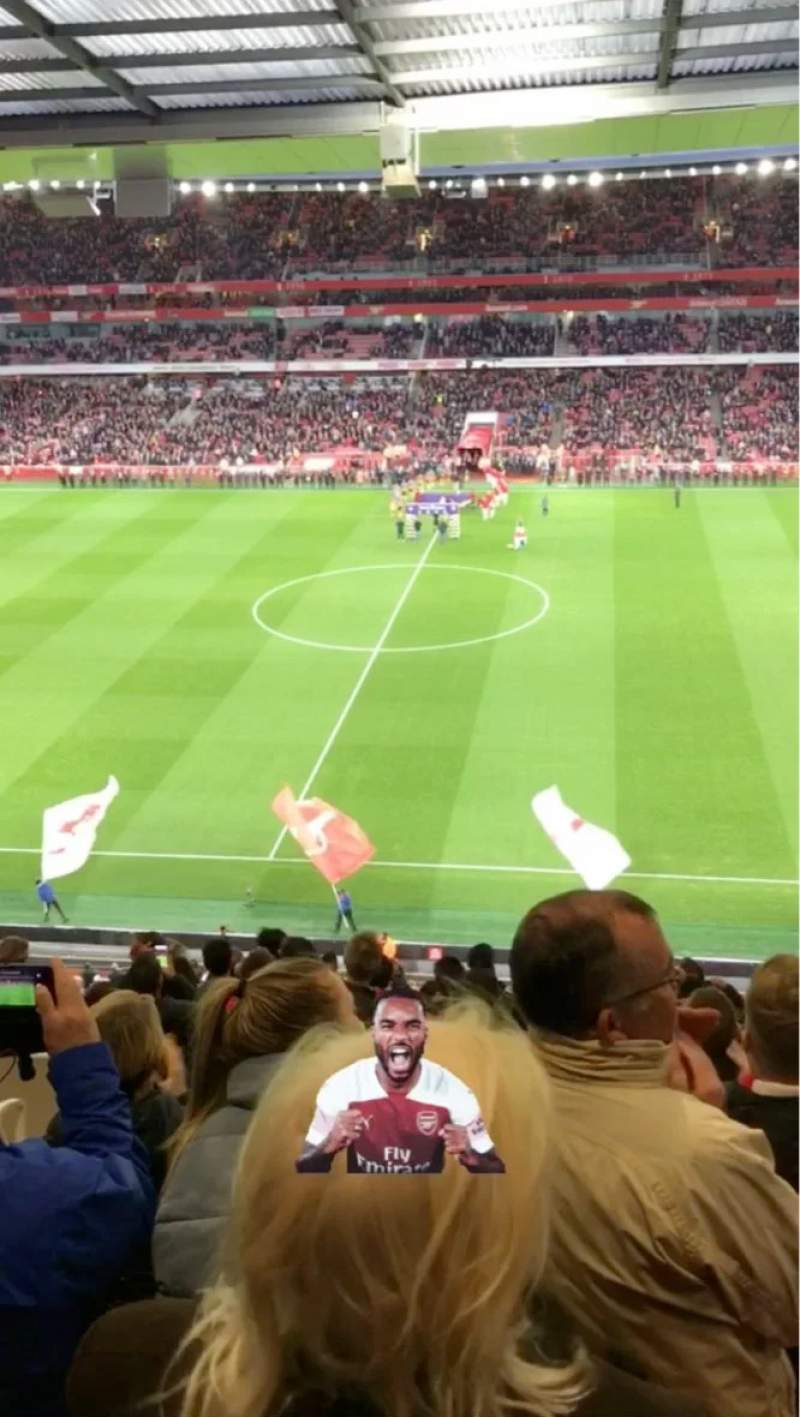 Seating view for Emirates Stadium Section 112 Row 15 Seat 584