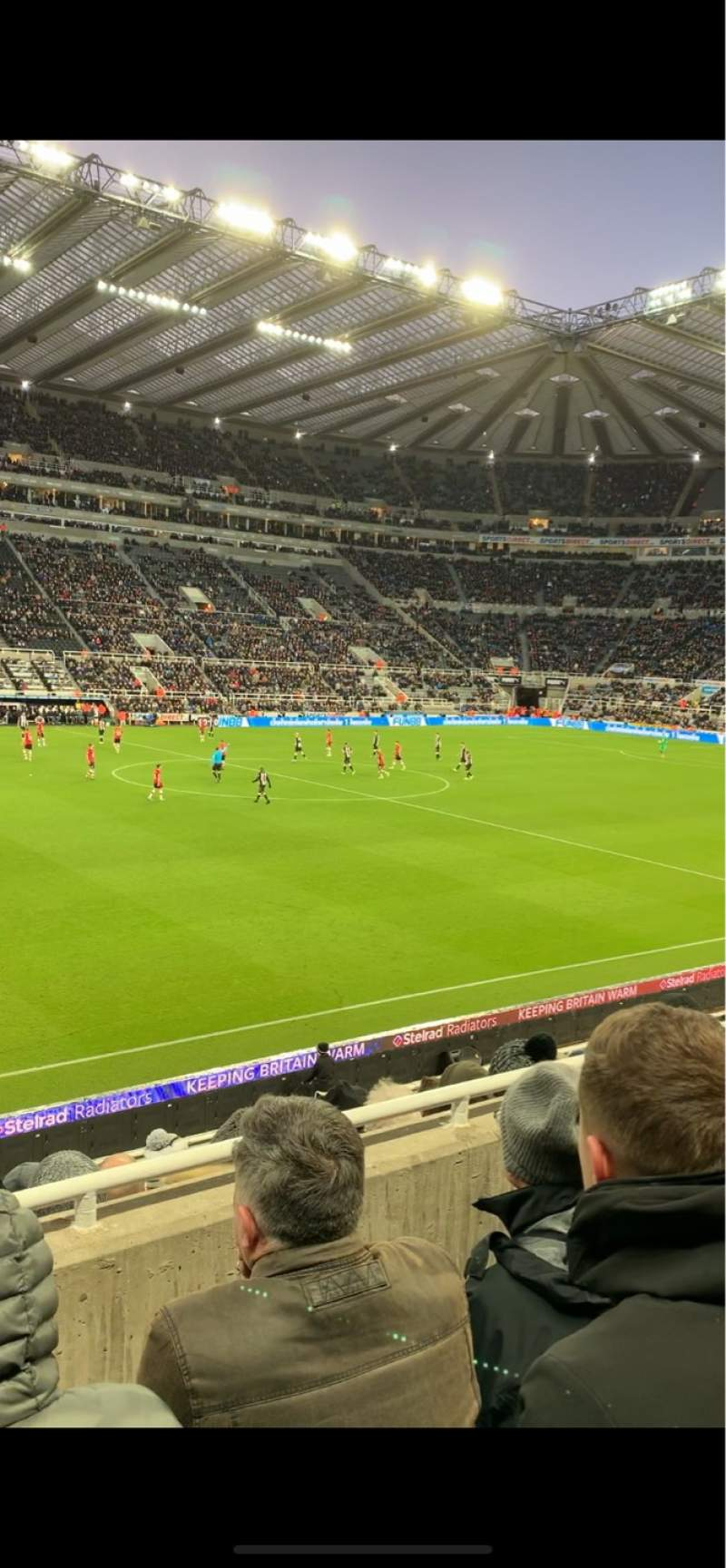 Seating view for St James' Park Section L Row C Seat 163