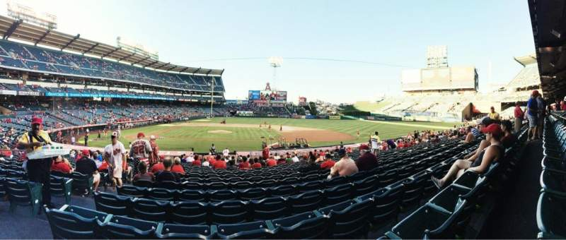 Seating view for Angel Stadium Section F124 Row Z Seat 3