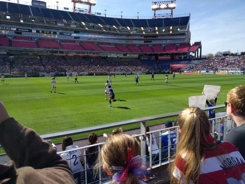 Seating view for Nissan Stadium Section 113 Row B Seat 24