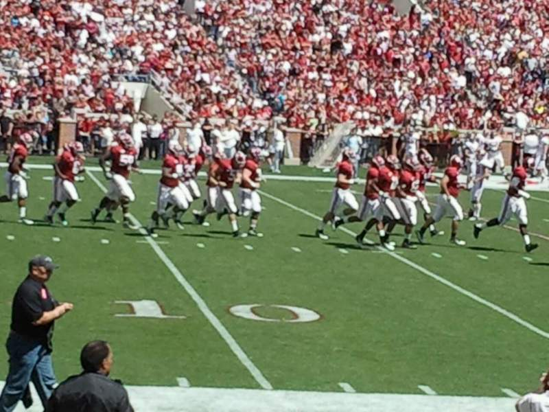 Seating view for Bryant-Denny Stadium Section N Row 9 Seat 9