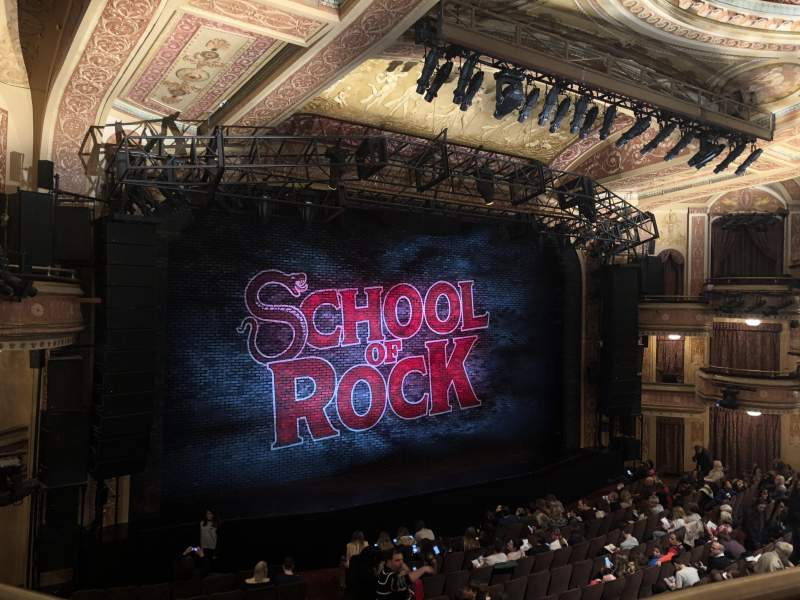 Seating view for Winter Garden Theatre Section Mezzanine RC Row A Seat 126