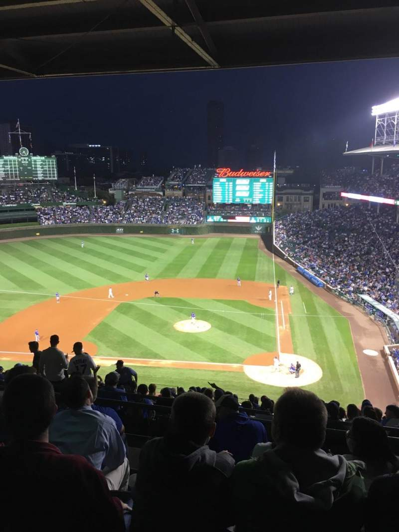 Seating view for Wrigley Field Section 413L Row 5 Seat 17