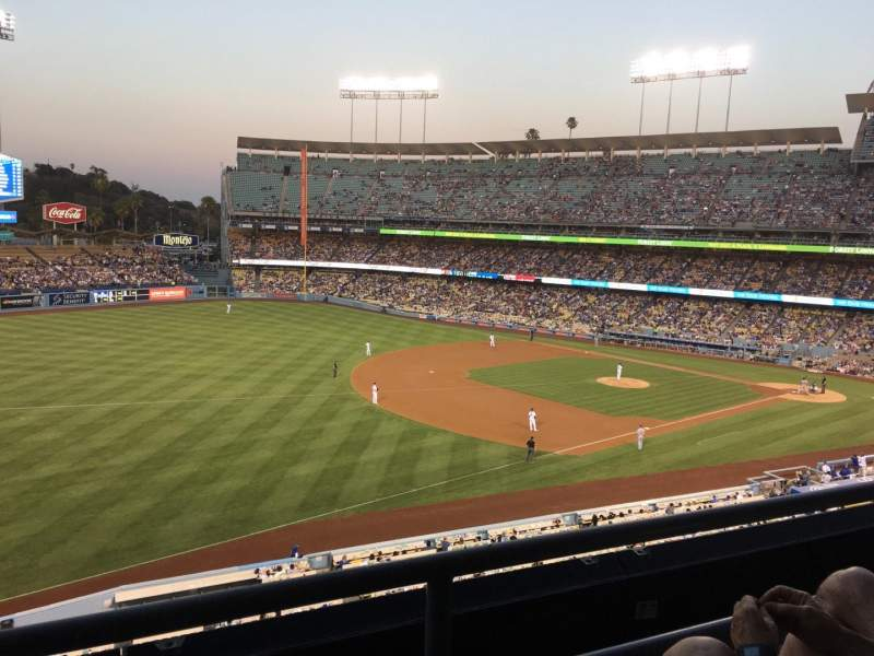 Seating view for Dodger Stadium Section Executive Club Row D Seat 3