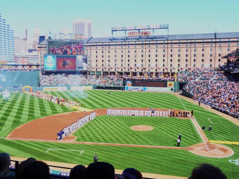 Seating view for Oriole Park at Camden Yards Section 246 Row 4 Seat 4