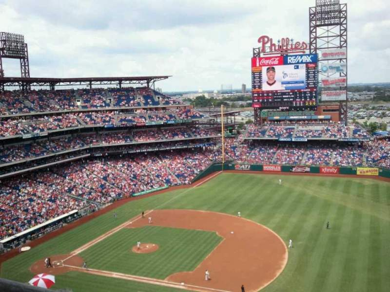 Seating view for Citizens Bank Park Section 412V Row 9 Seat B