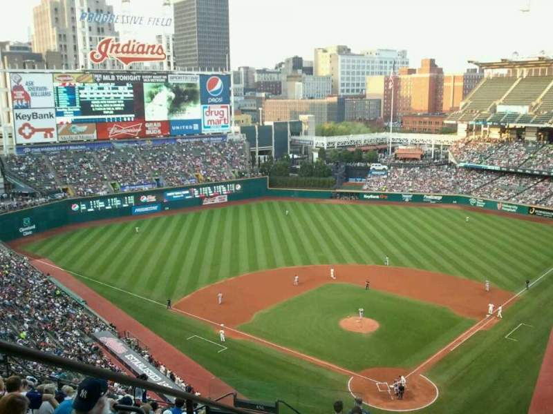 Seating view for Progressive Field Section 555 Row N Seat 21