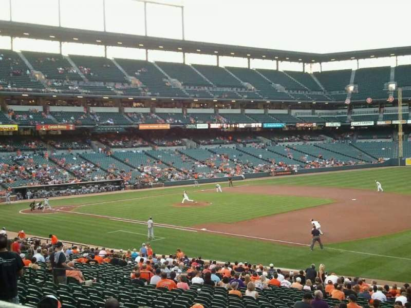 Seating view for Oriole Park at Camden Yards Section 13 Row 1 Seat 14
