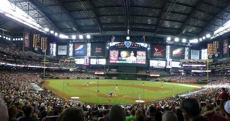 Seating view for Chase Field Section 121 Row 35 Seat 15