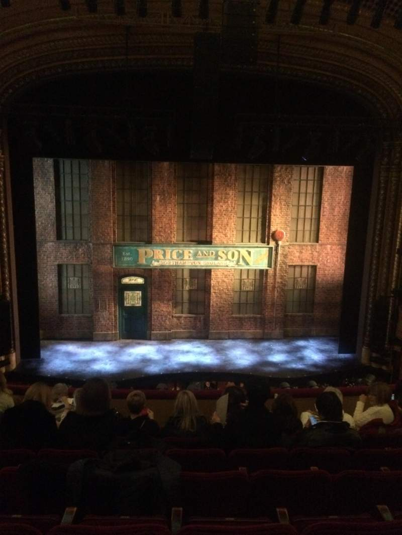 Seating view for Al Hirschfeld Theatre Section Mezz Center Row H Seat 110