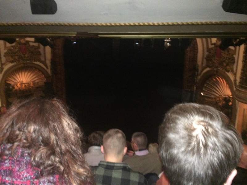 Seating view for Palace Theatre (Broadway) Section Rear Center Mez Row M Seat 124