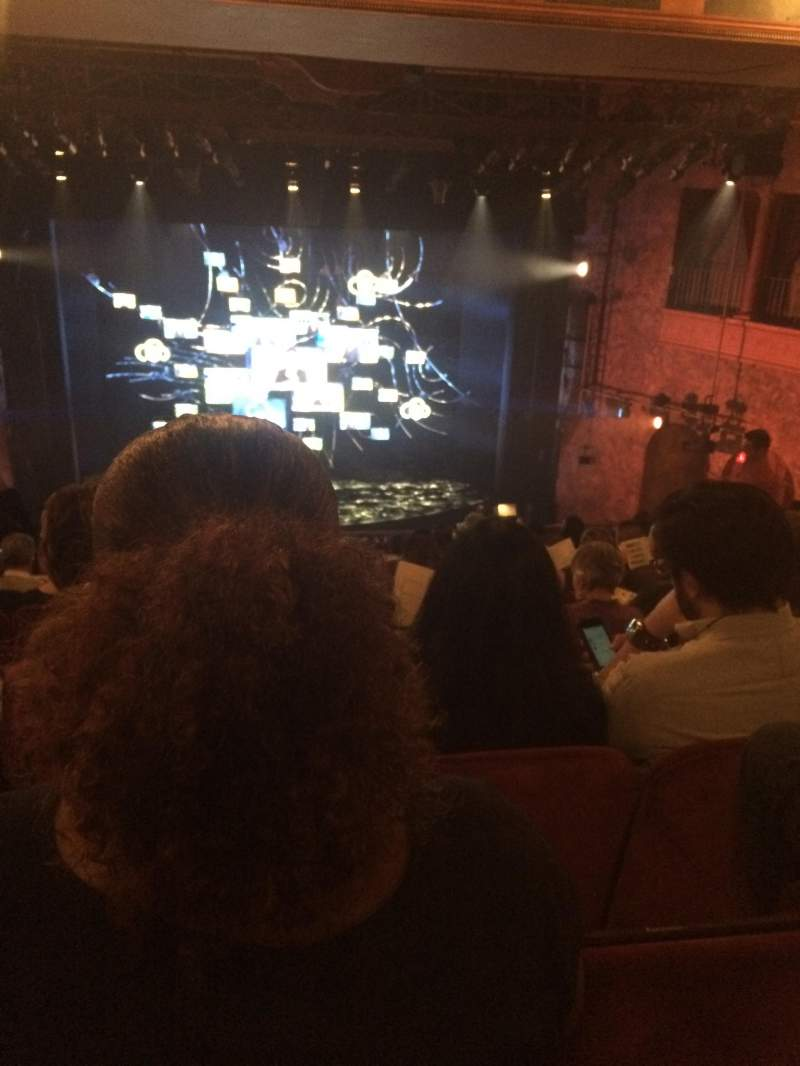Seating view for August Wilson Theatre Section Mezzanine C Row M Seat 112