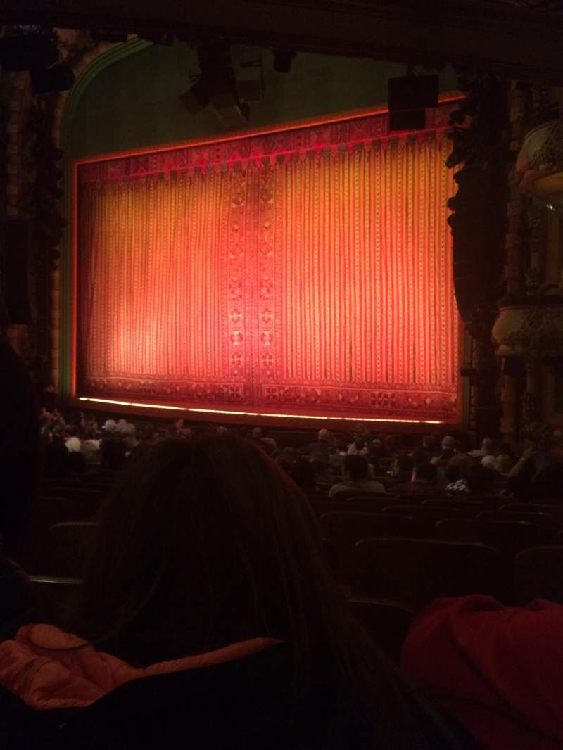 Seating view for New Amsterdam Theatre Section Orchestra R Row S Seat 20