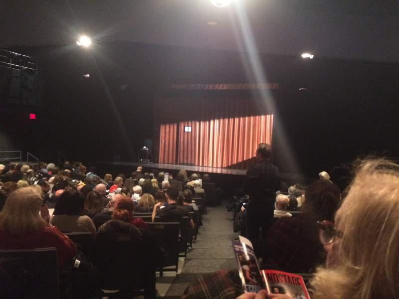 Seating view for Laura Pels Theatre Section Orchestra Row O Seat 10