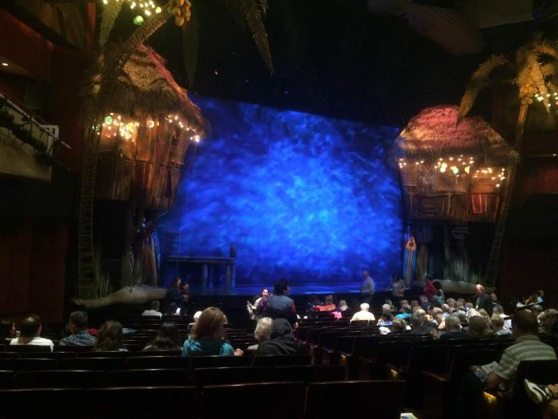 Seating view for Marquis Theatre Section Orchestra L Row R Seat 5