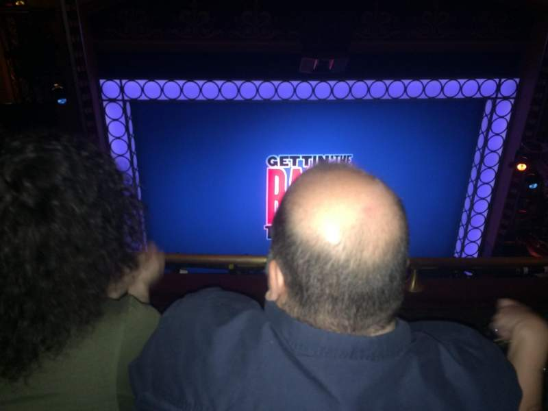 Seating view for Belasco Theatre Section Balcony C Row F Seat 103
