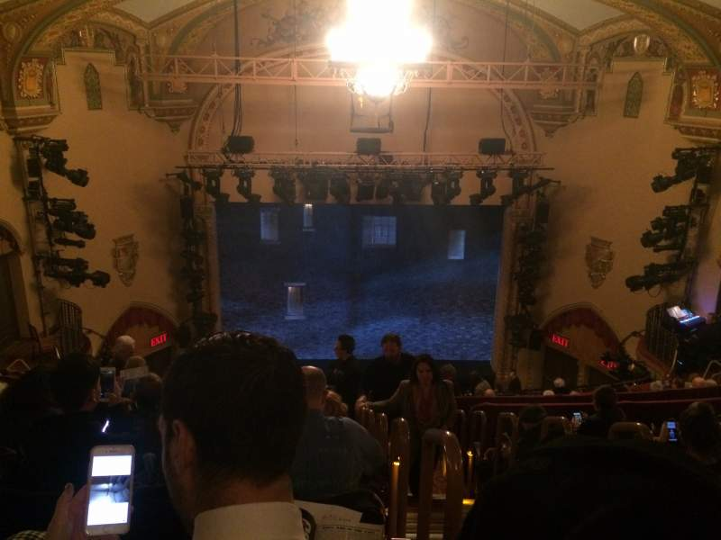 Seating view for John Golden Theatre Section Rear Mezzanine LC Row G Seat 101