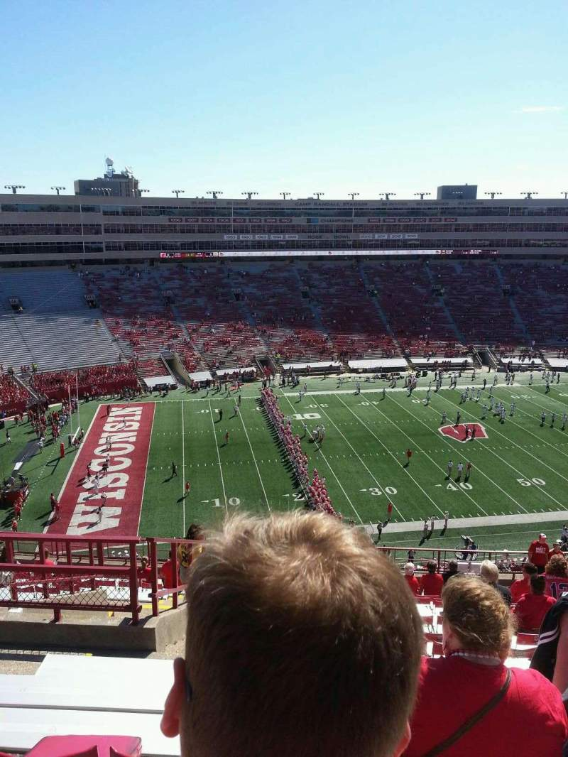Seating view for Camp Randall Stadium Section kk Row 23 Seat 30