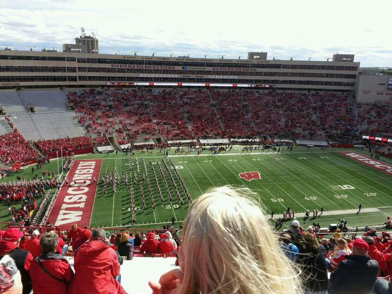 Seating view for Camp Randall Stadium Section hh Row 31 Seat 21