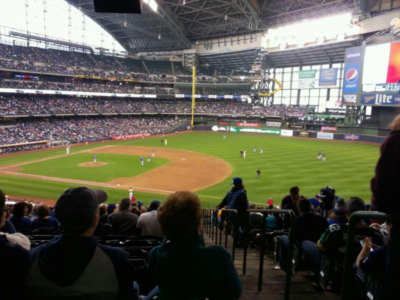Seating view for Miller Park Section 211 Row 18 Seat 29