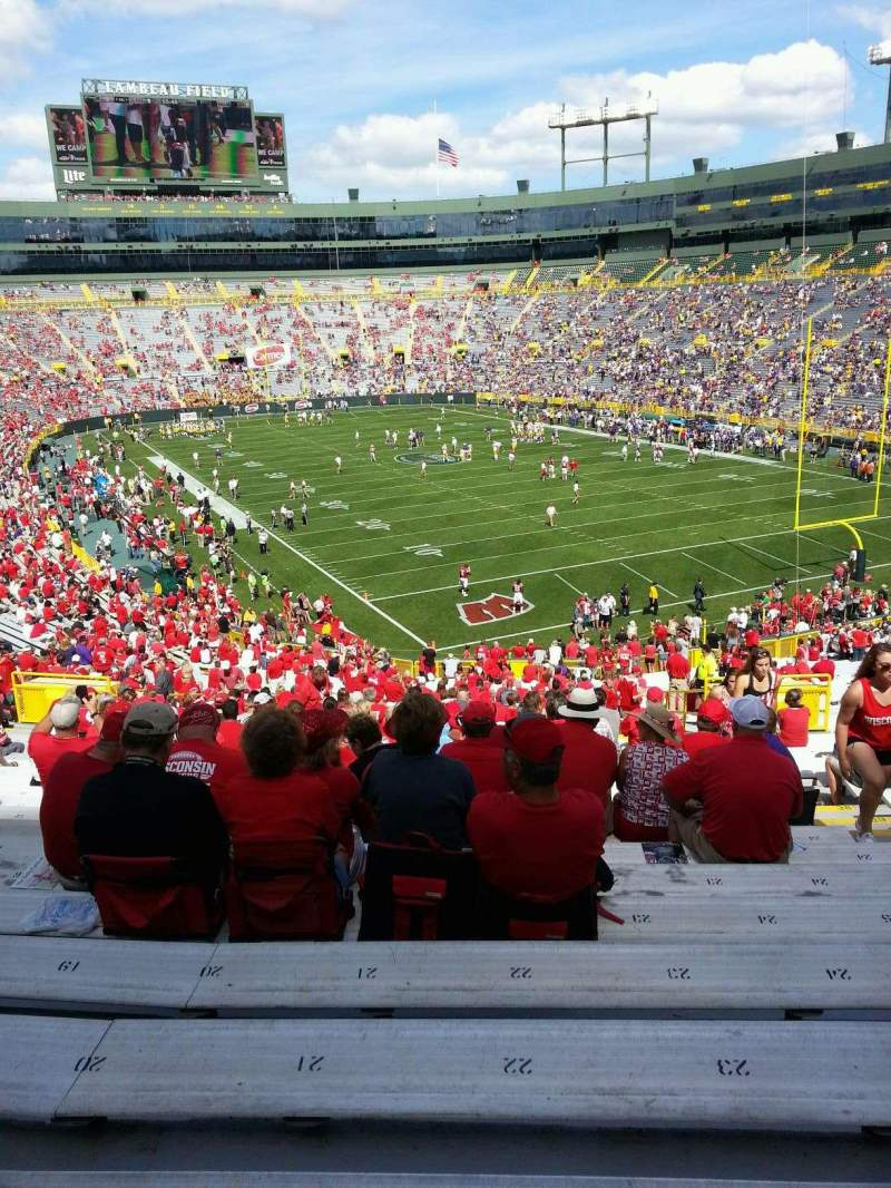 Camp Randall Stadium, section: 134, row: 50, seat: 23