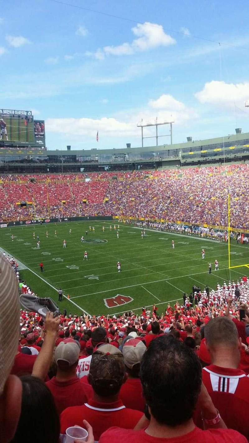 Seating view for Lambeau Field Section 134 Row 50 Seat 23